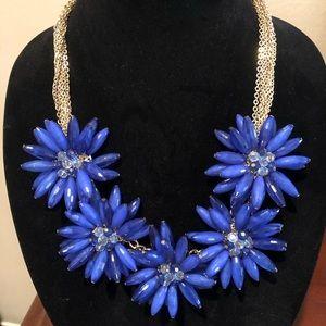Natasha royal blue flower necklace